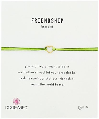 Dogeared Friendship Small Open Heart with Mix String Bracelet