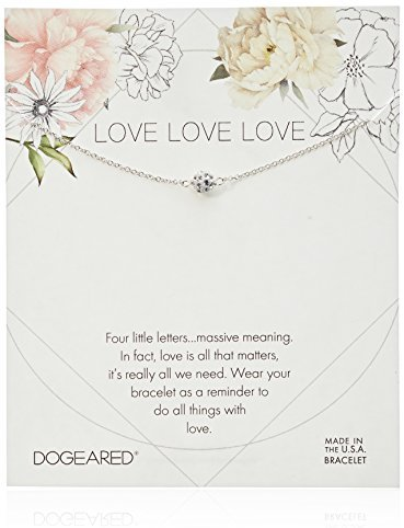 Dogeared Love Pave Sparkle Ball Bracelet