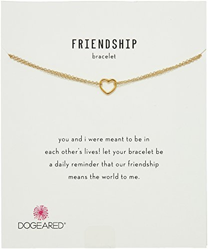 "Dogeared Friendship, Small Open Heart Chain Necklace, 6""+1"" Extender"