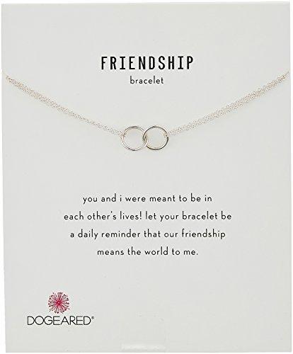 "Dogeared ""It's Personal"" Friendship Double-Linked Rings Chain Bracelet, 6""+1"" Extender"