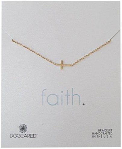Dogeared Faith Basic Cross Carded Bracelet