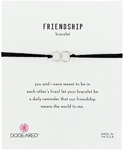 "Dogeared ""Friendship"" Double-Linked Adjustable Closure Bracelet"