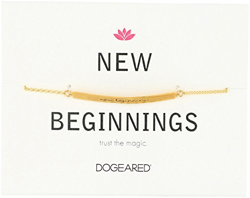 "Dogeared Id ""New Beginnings"" Thin Bar Bracelet"