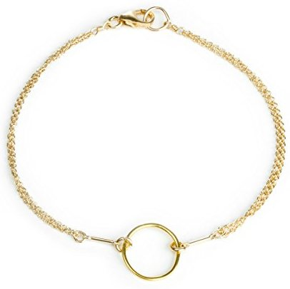 Dogeared Gold Dipped Classic Original Karma Carded Boxed Bracelet