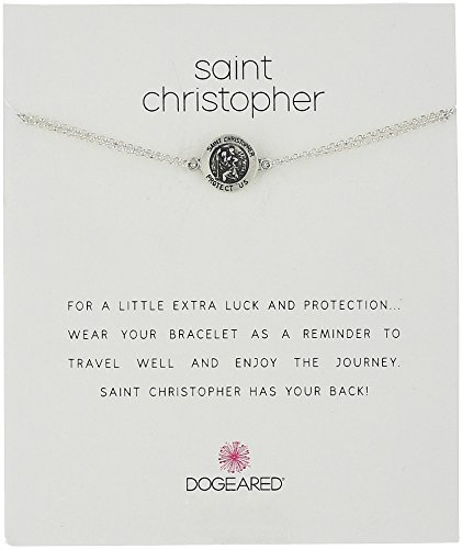 """dogeared st. christopher chain bracelet, 6""""+2"""" extender"""