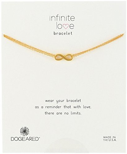 "Dogeared Infinite Love Charm Bracelet 6"" + 1"" Extender"