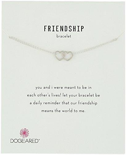 "Dogeared Friendship, Linked Open Heart Chain Bracelet, 6""+1"" Extender"