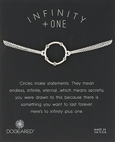 """Dogeared Small Halo With Crystals On ChainBracelet, 6""""+1"""" Extender"""
